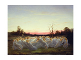 Fairies of the Meadow, 1850 Giclée-Druck von Nils Blommer