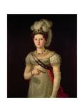 Portrait of Maria Josephine Amalia of Saxony Giclee Print by Francisco Lacoma