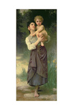 Mother and Child, 1887 Giclee Print by William Adolphe Bouguereau