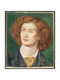 Portrait of Algernon Charles Swinburne, 1861 Giclee Print by Dante Gabriel Rossetti