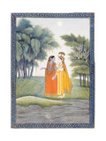 Krishna and Radha Walking by the Jumna in the Moonlight Having Exchanged Clothes, from the… Giclee Print