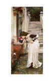 The Shrine Giclée-tryk af John William Waterhouse