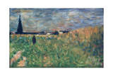 Fields in Summer Giclee Print by Georges Pierre Seurat