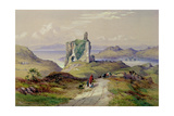 Tarbert Castle, Loch Fyne Giclee Print by Thomas Miles Richardson