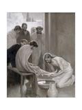 Jesus Washing the Feet of His Disciples, 1898 Wydruk giclee autor Albert Edelfelt
