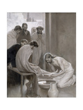 Jesus Washing the Feet of His Disciples, 1898 Giclee Print by Albert Gustaf Aristides Edelfelt