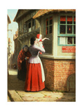 Posting a Letter, 1879 Giclee Print by Frederick Daniel Hardy