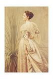 Porträtt av en dam Gicléetryck av Henry John Hudson