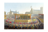 Coronation Procession of George IV, 1821 Giclee Print by George The Elder Scharf