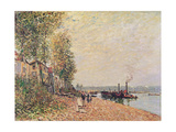 Steam Boats on the Loing at Saint-Mammes, 1877 Giclee Print by Alfred Sisley