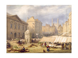 Cambridge Market Place, 1841 Giclee Print by Frederick Mackenzie