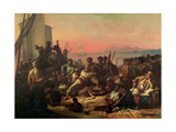 Slaves on the West Coast of Africa, C.1833 Giclee Print by Francois Auguste Biard