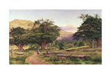 The Churchyard at Betws-Y-Coed, 1863 Giclee Print by Benjamin Williams Leader