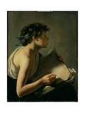 The Young Poet (Youth Transcribing Homer) Giclee Print by Johann Moreelse