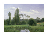 View at Rouelles, 1858 Giclee Print by Claude Monet
