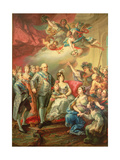 Paying Homage to Charles IV and His Family Giclee Print by Vicente Lopez y Portana