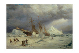 T1589 the Pandora Nipped in the Pack in Melville Bay, 24th July 1876, an Arctic Expedition Led by… Giclee Print by Walter William May