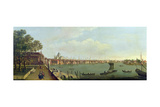 London Bridge and the City from the Terrace of Somerset House Giclee Print by Francis Smith