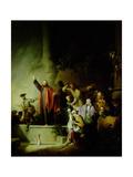 The Raising of Lazarus Giclee Print by Christian Wilhelm Ernst Dietrich