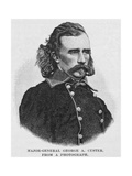Major General George Armstrong Custer, Engraved from a Photograph, Illustration from 'Battles and… Giclée-tryk af Alexander Gardner