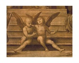 Detail of Two Angels from Palazzo Del Gran Consiglio Giclée-tryk af Fra Bartolommeo