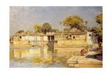 Palace and Lake at Sarkeh, Near Ahmedabad, India, C.1882-83 Giclee Print by Edwin Lord Weeks