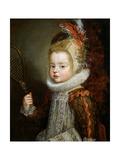 A Portrait of a Child Holding a Racket Giclée-Druck von Cornelis de Vos
