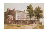 View of Grosvenor House at Millbank, 1809 Giclee Print by George Shepherd