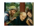 St. Catherine and the Philosophers (Detail), See 80755 Giclee Print by Goossen van der Weyden