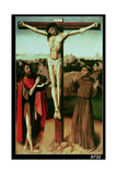 Christ on the Cross Between St. John and St. Francis Giclee Print by Gerard David