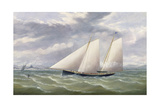 A Cutter in a Strong Wind Flying a Burgee of the Royal Thames Yacht Club Giclee Print by Arthur Wellington Fowles