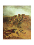 The Battle of Waterloo, 18th June 1815 Giclee Print by Nicolas Toussaint Charlet