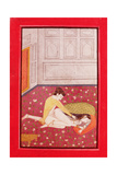 Lovers in a Cool Room on a Flowery Carpet, Kangra Style, Punjab Hills, C.1840 Giclee Print