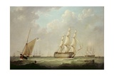 H.M.S. Britannia, 1847 Giclee Print by John Of Hull Ward
