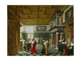 Elegant Figures Dancing in an Interior Giclee Print by Dirck Van Delen