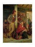 Irish Emigrants Waiting for a Train, 1864 Giclee Print by Erskine Nicol