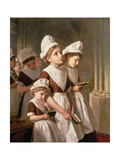 Foundling Girls at Prayer in the Chapel, C.1877 Giclee Print by Sophie Anderson
