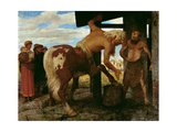 Centaur at the Village Blacksmith's Shop, 1888 Giclee Print by Arnold Bocklin