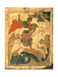 St. George and the Dragon Giclée-tryk