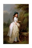 A Young Woman Inscribing a Tree Giclee Print by Louis Leopold Boilly