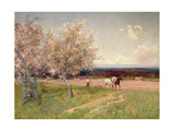 Ploughing Giclee Print by Sir Alfred East