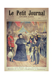 The French Hosts: the Arrival of the Queen of England at Cherbourg, Front Cover of 'Le Petit… Giclee Print by Henri Meyer