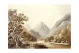 A View in Oheitepeha Bay in the Island of Otaheite, from 'Views in the South Seas', Pub. 1791 Giclee Print by John Webber
