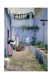 Patio Interior Giclee Print by Santiago Rusinol i Prats