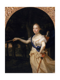 Portrait of a Lady as Diana Giclee Print by Godfried Schalcken