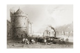 The Quay at Waterford, Ireland, from 'scenery and Antiquities of Ireland' by George Virtue, 1860s Giclee Print by William Henry Bartlett