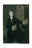 David Garrick (1717-79) as Hamlet Giclee Print by Benjamin Wilson
