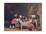 Convivial Scene in a Peasant's Cottage Giclee Print by Pehr Hillestrom