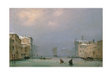 Grand Canal with Snow and Ice, 1849 Giclee Print by Ippolito Caffi
