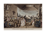 Mr Bullock's Exhibition of Laplanders at the Egyptian Hall, Piccadilly, 1822 Giclee Print by Thomas Rowlandson